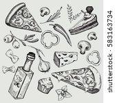 italian cuisine. italian food...   Shutterstock .eps vector #583163734