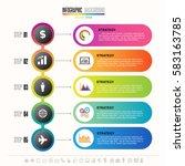 timeline infographics design... | Shutterstock .eps vector #583163785