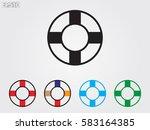 lifebuoy  icon  vector...   Shutterstock .eps vector #583164385