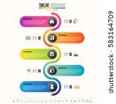 timeline infographics design... | Shutterstock .eps vector #583164709