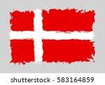 denmark flag grunge style.... | Shutterstock .eps vector #583164859