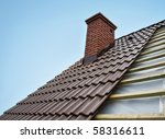 roof under constructions with... | Shutterstock . vector #58316611