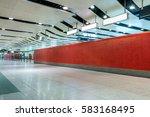 Modern Hallway Of Airport Or...