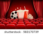 cinema background with a film... | Shutterstock .eps vector #583170739