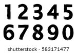 set of grunge numbers.vector... | Shutterstock .eps vector #583171477