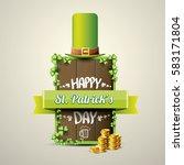 vector happy saint patrick's... | Shutterstock .eps vector #583171804