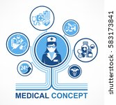 medical nurse concept. medicine ... | Shutterstock .eps vector #583173841