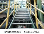 steel stair inconstruction site ... | Shutterstock . vector #583182961