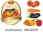 group of vegetables and label... | Shutterstock .eps vector #58318570