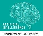 illustration of intelligence... | Shutterstock .eps vector #583190494