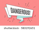 ribbon banner with text... | Shutterstock . vector #583192651