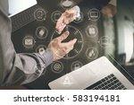 business partnership meeting... | Shutterstock . vector #583194181
