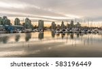 vancouver city skyline with... | Shutterstock . vector #583196449