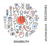 disability concept medical... | Shutterstock .eps vector #583200481