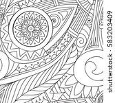 hand drawn doodles  seamless... | Shutterstock . vector #583203409