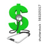 Dollar Sign And Stethoscope. 3...