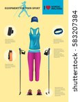 vector illustration of set with ... | Shutterstock .eps vector #583207384