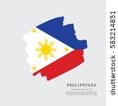 Flag Of Philippines  Brush...