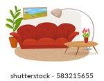 vector interior design. modern... | Shutterstock .eps vector #583215655