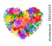 heart shape illustration with... | Shutterstock .eps vector #583216315