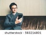 asian businessman or... | Shutterstock . vector #583216801