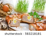 Easter Meatloaf Ring With Quai...