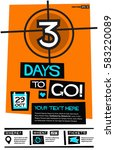 3 days to go   flat style... | Shutterstock .eps vector #583220089