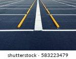 empty car parking lots  outdoor ... | Shutterstock . vector #583223479