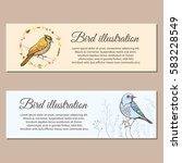 illustration of a bird. hand... | Shutterstock .eps vector #583228549
