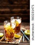 cuba libre or long island iced... | Shutterstock . vector #583231471