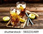cuba libre or long island iced... | Shutterstock . vector #583231489