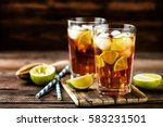 cuba libre or long island iced... | Shutterstock . vector #583231501