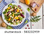 vegetable salad with rucola ...   Shutterstock . vector #583232959