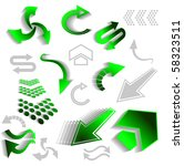 set of green arrow icons for... | Shutterstock . vector #58323511