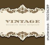 vintage gold frame with... | Shutterstock .eps vector #583236289