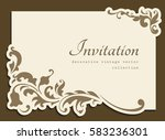 vintage gold rectangle frame... | Shutterstock .eps vector #583236301