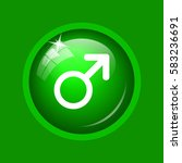 male sign icon. internet button ... | Shutterstock . vector #583236691