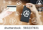 artificial intelligence service ... | Shutterstock . vector #583237831