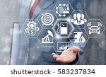 gas station fuel industry 4.0... | Shutterstock . vector #583237834