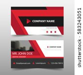 red corporate business card ... | Shutterstock .eps vector #583243051
