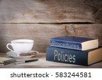 policies and procedures. stack... | Shutterstock . vector #583244581