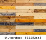 wooden panels wall or... | Shutterstock . vector #583253665