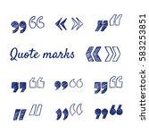doodle set of quote marks  ... | Shutterstock .eps vector #583253851