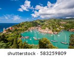 portofino village on ligurian... | Shutterstock . vector #583259809