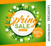 spring sale background with... | Shutterstock .eps vector #583260391