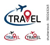 travel logo that have a plane...   Shutterstock .eps vector #583263265