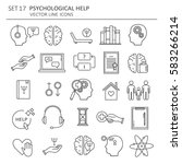 big set symbols of... | Shutterstock .eps vector #583266214