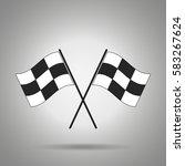 racing flag icon | Shutterstock .eps vector #583267624