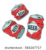 set of sketchy crumpled beer... | Shutterstock .eps vector #583267717
