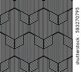 black and white pattern... | Shutterstock .eps vector #583270795